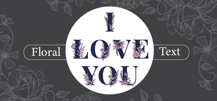 Floral Text Effect with Illustrator