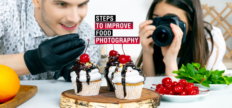 steps to improve food photography