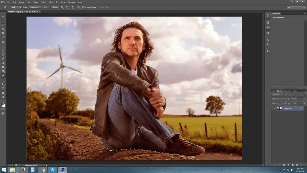 Background remove using pen tool step 7