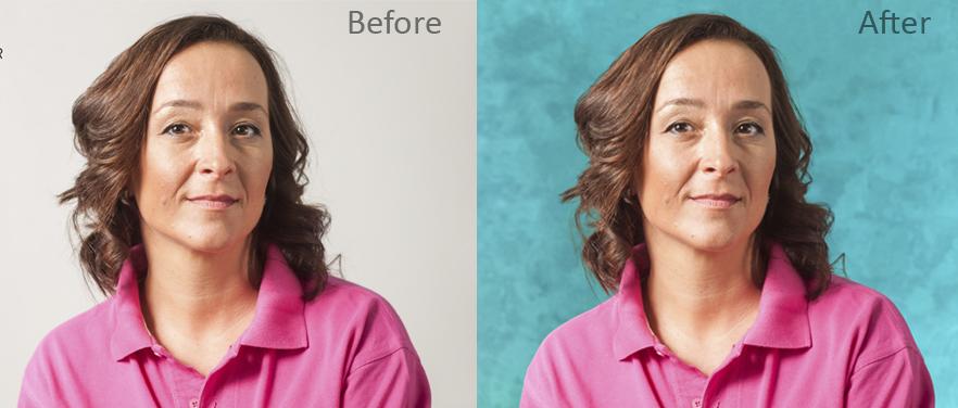 Complex Clipping Path masks.Hair Erase