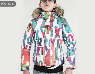 Hoodie Jacket Image Neck Joint