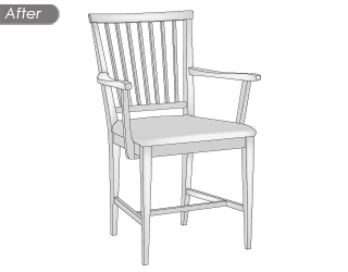 chair vector after image