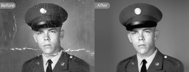 Vintage and Black & White Photo Restoration Services