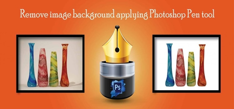 Remove image background applying Photoshop Pen tool