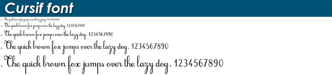 Cursif font