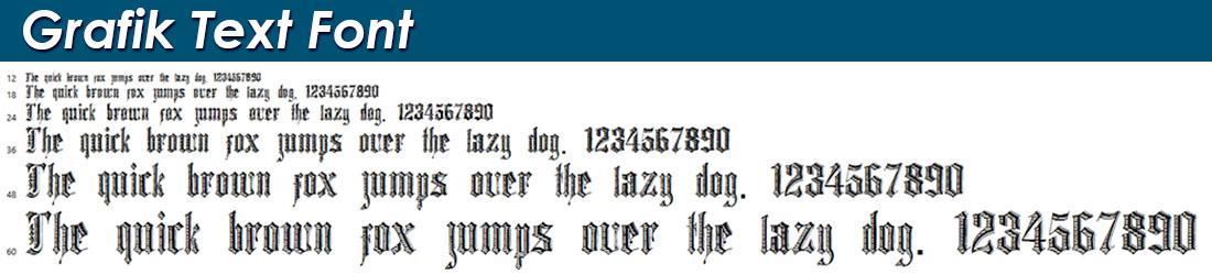 Grafik Text Font