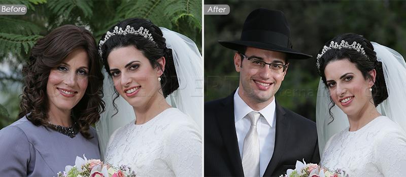 Remove & Add Object & People - Wedding Photo Retouching