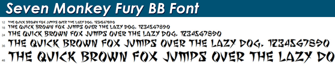 Seven Monkey Fury BB Font