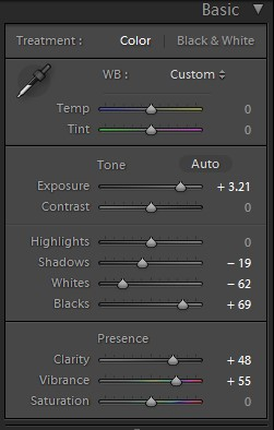 basic tool pannel for HDR