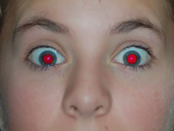 red eye image of CEI