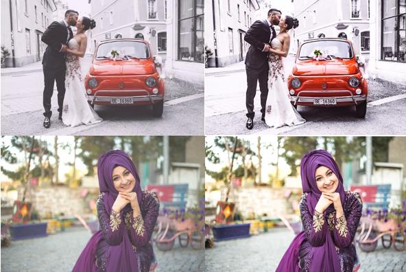 Color Correction for Wedding Photos