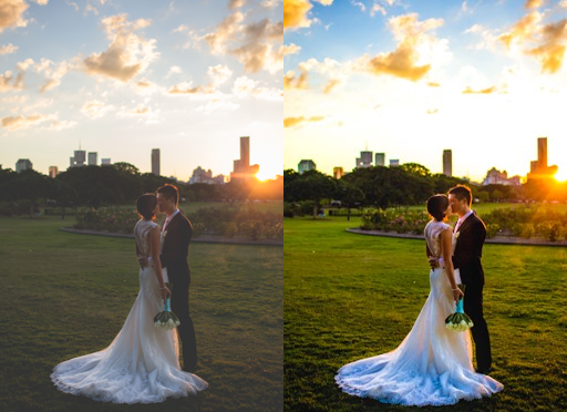 Wedding Photo Fuzzy & Tint Photo restoration
