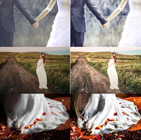 Wedding Photos Shadow Removing