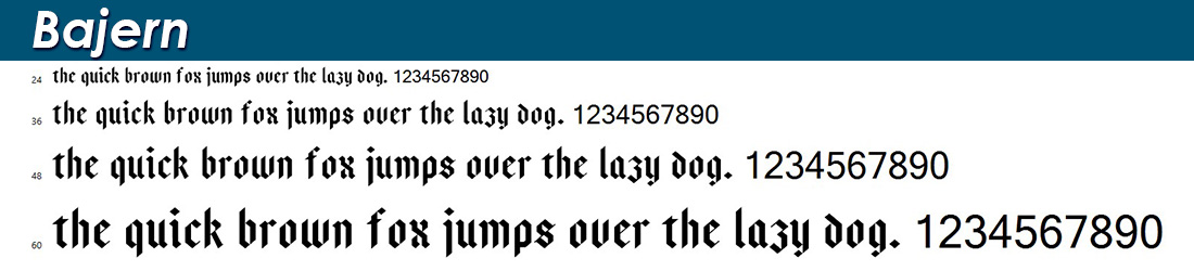 Bajern fonts
