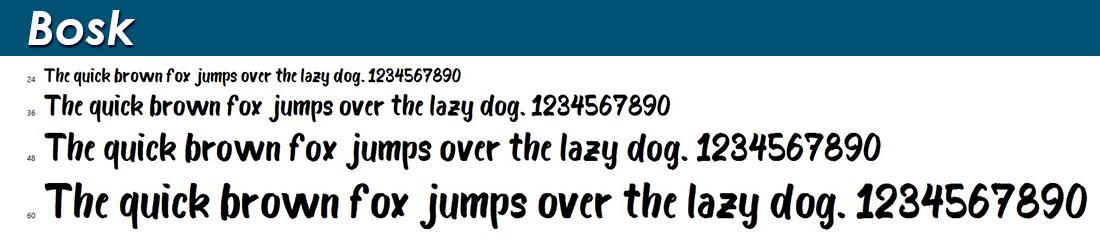 Bosk Handwritten Font Image
