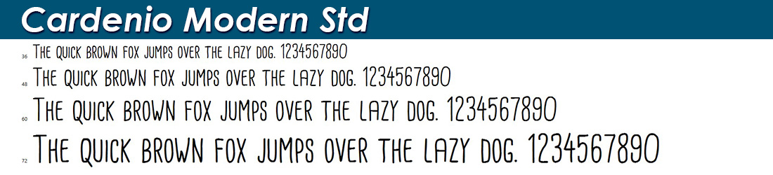 Cardenio Modern Std Font Image