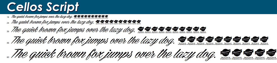 Cellos-Script fonts