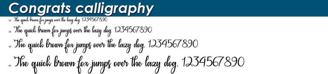Congrats-calligraphy fonts