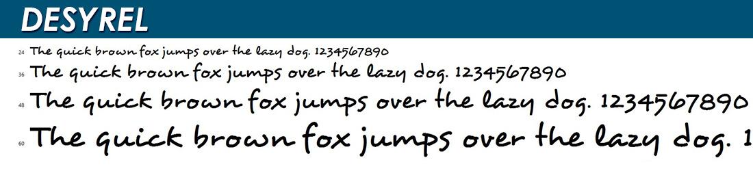 DESYREL Font Image
