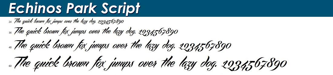 Echinos Park Script fonts