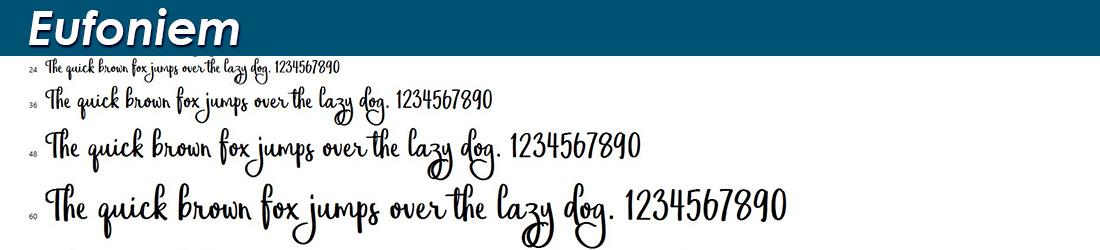 Eufoniem font image