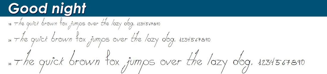 Good night font image