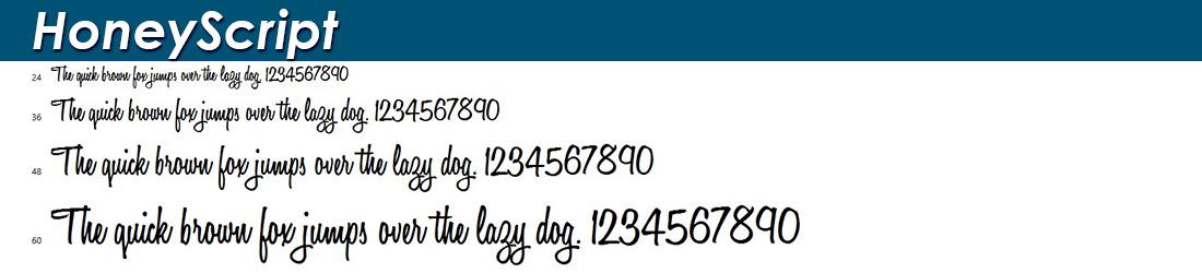 Honey Script fonts