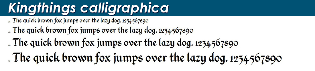 Kingthings calligraphica fonts