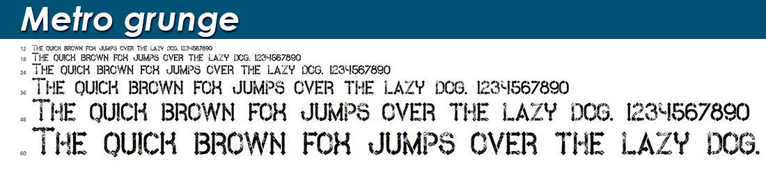 Metro grunge fonts