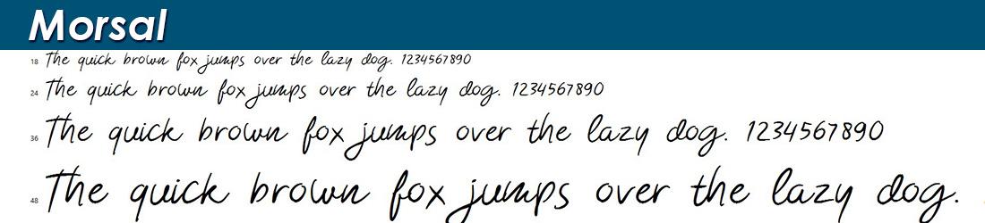 Morsal Font Image