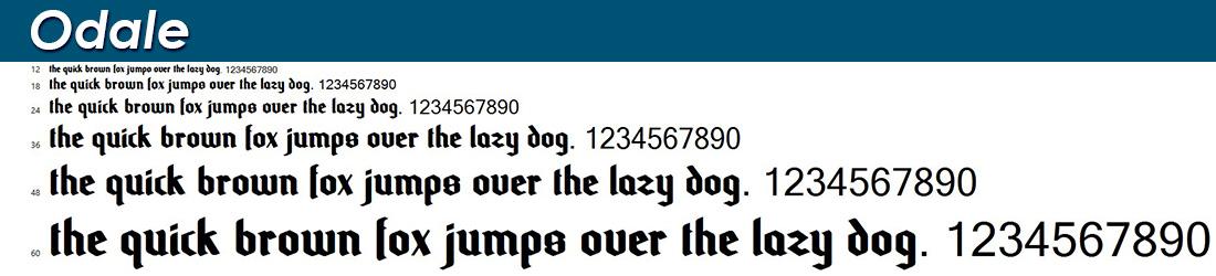 Odale fonts