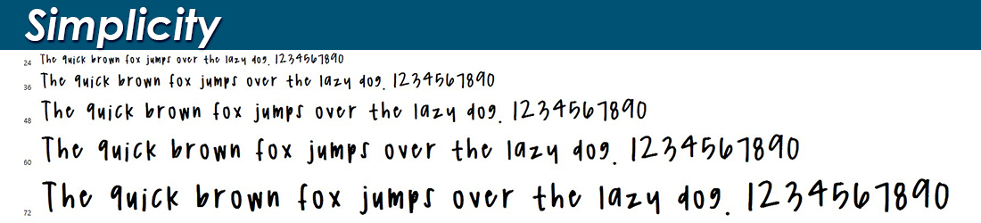 Simplicity Font Image