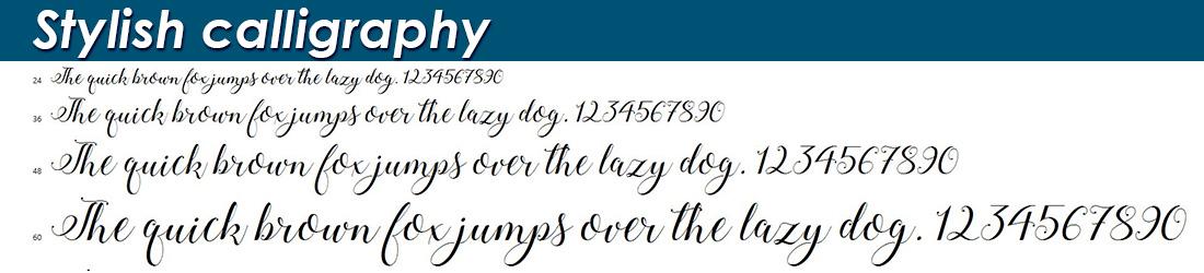 Stylish calligraphy fonts