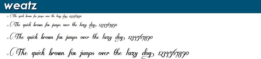 Weatz Fonts