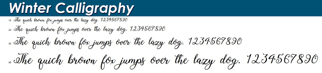 Winter Calligraphy fonts