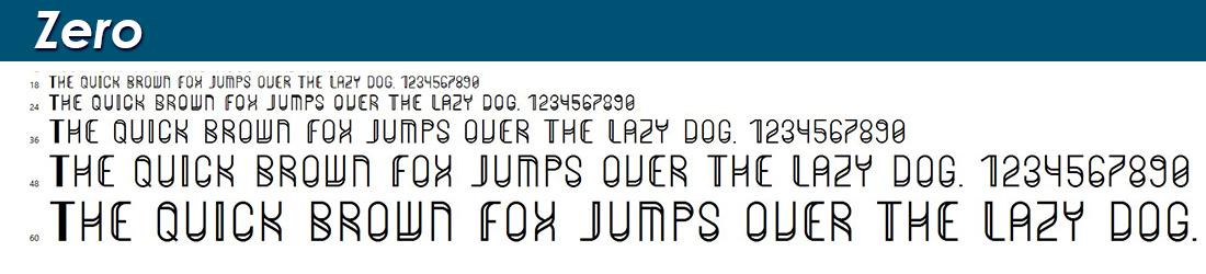 Zero fonts