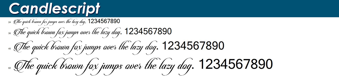 candlescript fonts