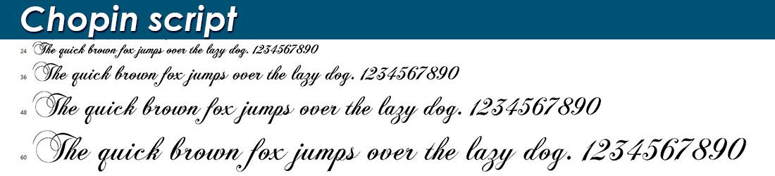 chopin script fonts