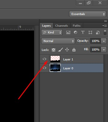 Process of image compositing Layer 1