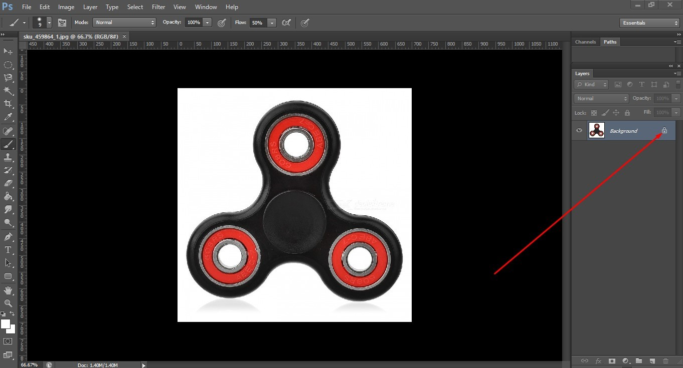 Select the pen tool
