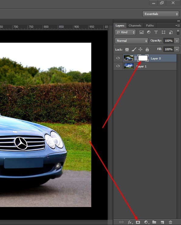 brush tool from the toolbar