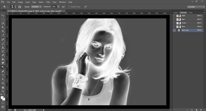 removing the white glare