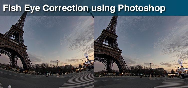 Fish Eye Correction using Photoshop