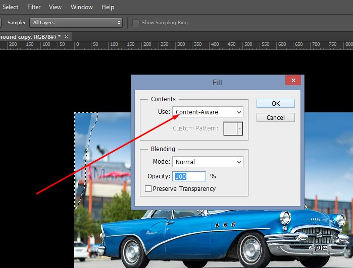 Open up your photo in Photoshop