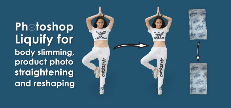 Photoshop Liquify for body slimming