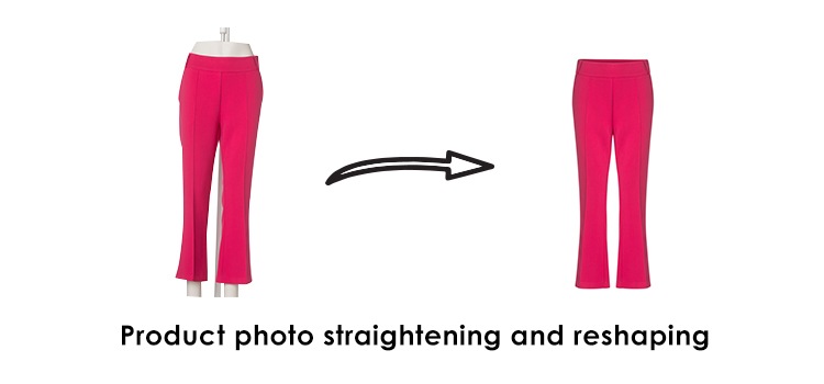 Product photo straightening and reshaping