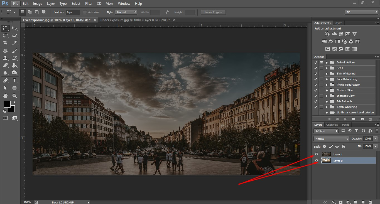 under exposure image layer
