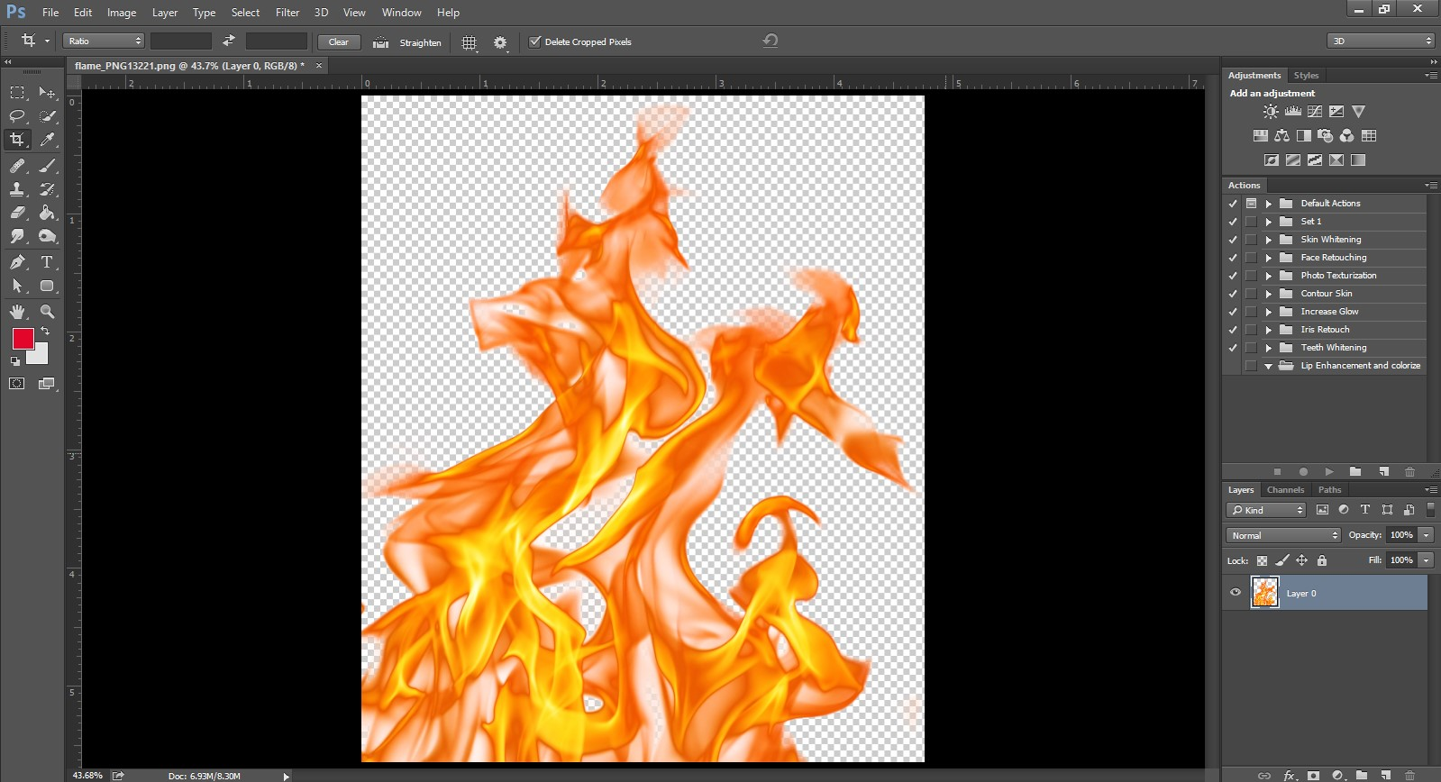 open png image in photoshop