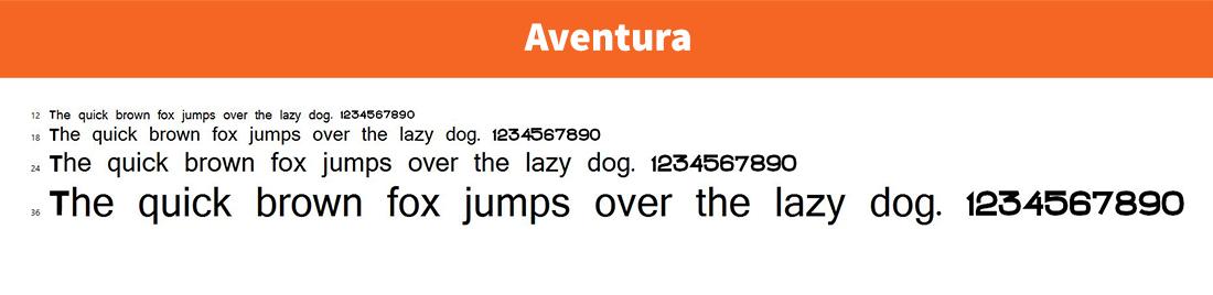 Aventura-free logo font
