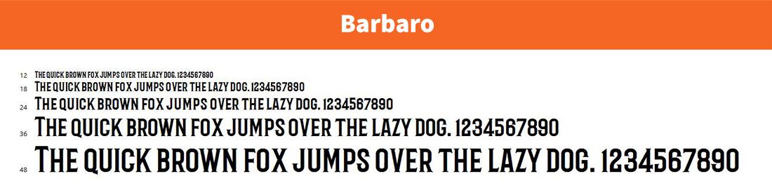 Barbaro-free logo font